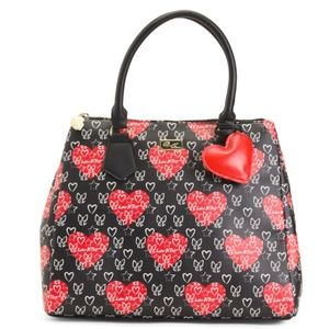 NWT Betsey Johnson Luv Betsey Tote/Satchel Bag